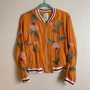 Elevenses Embroidered Bomber Jacket